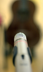mic and guitar